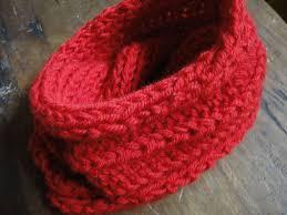 bufandas mis tejidos tejer en navidad manualidades navidenas bufanda cuello doble tejido en lana natural de oveja con dos agujas y punto