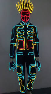 Tron Halloween Costumes Cs 0066 Japanese Tron Dancer Lights El Wire Costume Led Dance