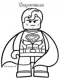 print lego movie superman coloring pages printable