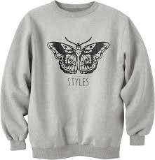 butterfly harry styles unisex crewneck sweatshirt meh