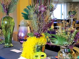 with mardi gras centerpieces