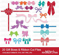 gift bows sale 20 gift bows ribbon cut files bow svg ribbon svg