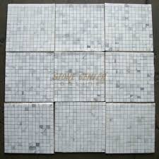 calacatta gold 3 4x3 4 square mosaic tile honed marble from