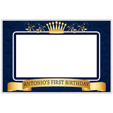 Royal Crown Home Decor Crown Prince Royal Blue And Gold Birthday Banner Party Backdrop
