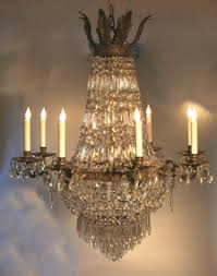 French Empire Chandelier Lighting French Empire Style Crystal And Ormolu Chandelier Item 1174717