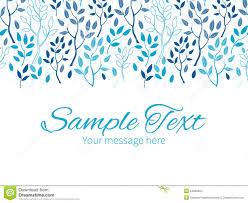Invitation Card Border Design Vector Blue Forest Horizontal Border Greeting Card Stock Vector