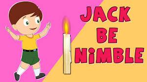 jack be nimble nursery rhyme clipart collection
