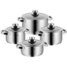 wmf livo stainless steel cookware set 8 piece save 67