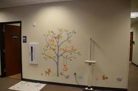 pediatric center hangs woodland tree wall stickers roommates blog finished woodland wall decals scene