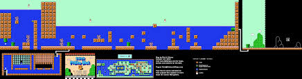 Super Mario World Map by Mario Brothers 3 World 4 4 Nintendo Nes Map