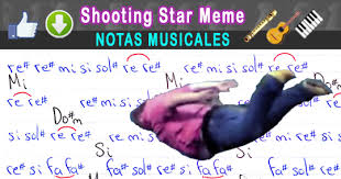 Star Meme - notas musicales shooting star meme notas musicales video tutorial