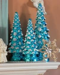 turquoise blue mercury glass trees traditional