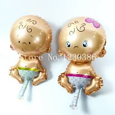 aliexpress com buy balloon baby shower party foil angel baby boy