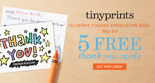 thank you cards for teachers get 5 free thank you cards for appreciation