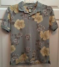 caribbean joe cotton blend hawaiian casual shirts for men ebay