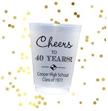 high school reunion favors high school reunion cups class reunion favors personalized cups