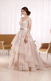 wedding gowns with sleeves plus size wedding dress with sleeves essense of australia