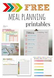 five fabulous free meal plan printables free meal plans free