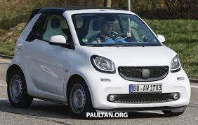 spyshots 2016 smart fortwo cabrio needs no camos