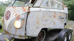 volkswagen van hippie for sale 1963 vw bus van wow it runs for sale on ebay youtube