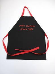 tablier cuisine enfant personnalisé tablier de cuisine enfant personnalisable noir et de la
