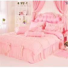luxury lace princess crib kids bedding sets romantic pure cotton