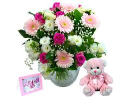 baby flowers baby girl flower gift set free delivery