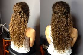 half up half down naturally curly hairstyles easy half up half