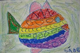 drawing fish with lines and shapes teachkidsart