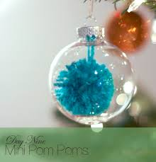 a glass ornament decorated 10 ways mini pom pom ornaments by