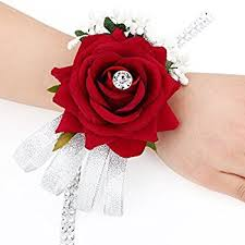 wrist corsages for homecoming wrist corsage black white and roses home kitchen