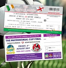 wedding invitations kilkenny football soccer ticket wedding invitations wedfest