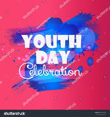 Creative Images International Creative Illustrationbanner Poster International Youth Day Stock