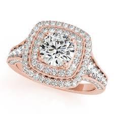 antique rose rings images Rose gold engagement rings diamonds cubic zirconia cz jpg