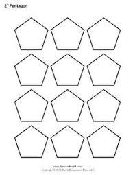 printable pentagon templates patterns pinterest template