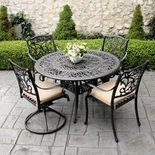 Patio Table And Chair Set Patio Furniture Metal Patio Table Chairs Round With Chairspatio