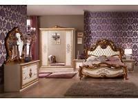 schlafzimmer barock vitrine schrank beige gold oder schwarz barock italien in