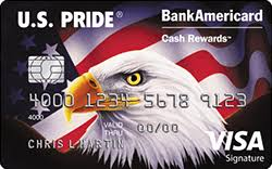 u s pride bankamericard cash rewards visa card