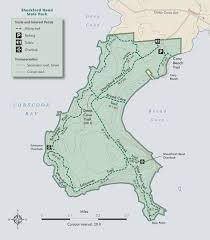 Tyler State Park Map by Maine By Foot Shackford Head State Park Eastport