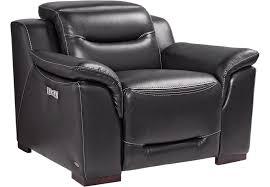 Black Leather Recliner Sofia Vergara Gallia Black Leather Power Plus Recliner Leather