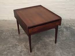 dark walnut end table dillingham esprit mid century modern dark walnut end table