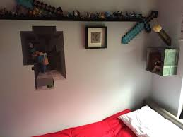 minecraft gamers room foam minecraft sword and wall sticker from