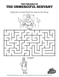 matthew 18 the parable of the unforgiving servant bible mazes can