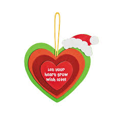 cute for grinch growing heart ornament craft kit