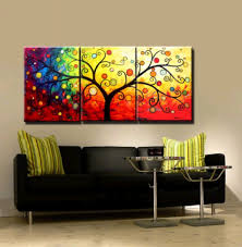 paintings for living room decor abstract tree oil painting canvas
