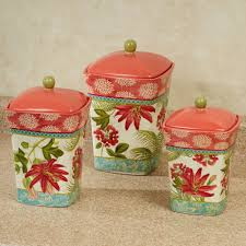 Stoneware Kitchen Canisters Red Canister Set For Kitchen Top Vintage Canister Set Red And