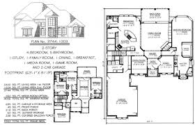 house plans with media room 4 bedroom 2 story 3601 4500 square