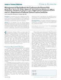 What Is Resume Synopsis Va Dod 2014 Cholesterol Guidelines Annals Of Internal Medicine