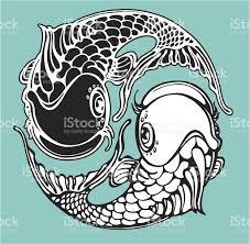 yin yang koi fish stock vector more images of 165673688