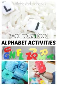 back to alphabet activities for kids